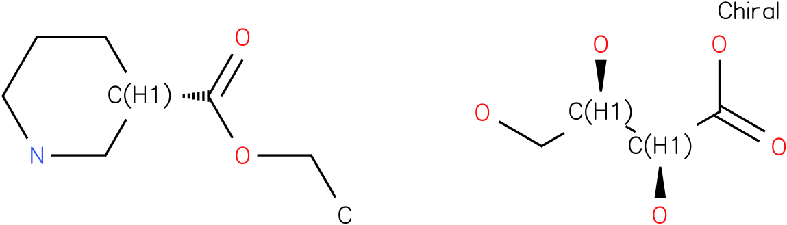 Ethyl (s)-nipecotate D-tartrate