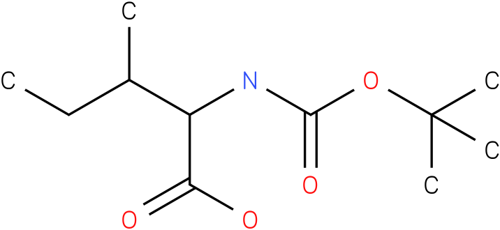L-Isoleucine, N-[(1,1-dimethylethoxy)carbonyl]-