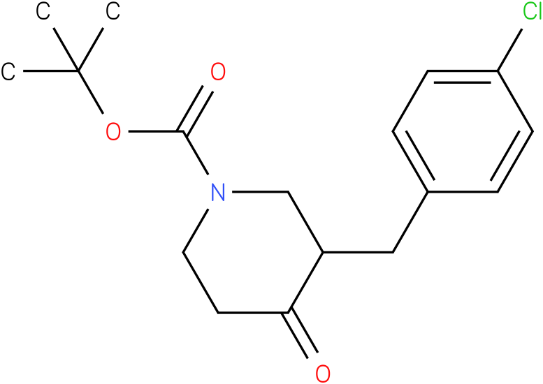 tert-butyl 3-(4-chlorobenzyl)-4-oxopiperidine-1-carboxylate