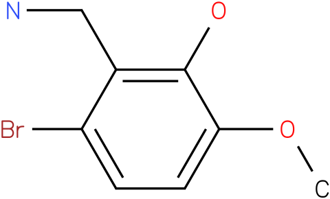 2-Bromo-5-methoxy-6-hydroxybenzylamine