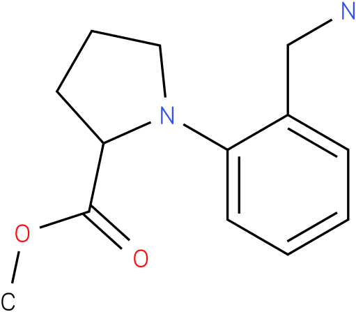 1-(2-aminomethyl-phenyl)-pyrrolidine-2-carboxylic acid methyl ester