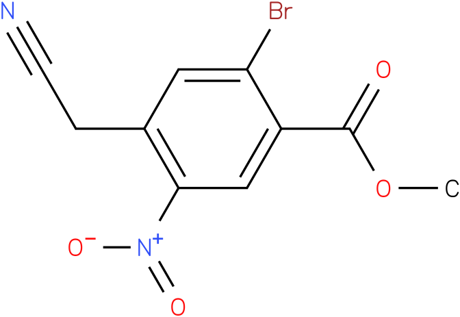 methyl 2-bromo-4-(cyanomethyl)-5-nitrobenzoate