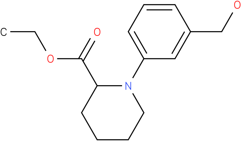 1-(3-hydroxymethyl-phenyl)-piperidine-2-carboxylic acid ethyl ester