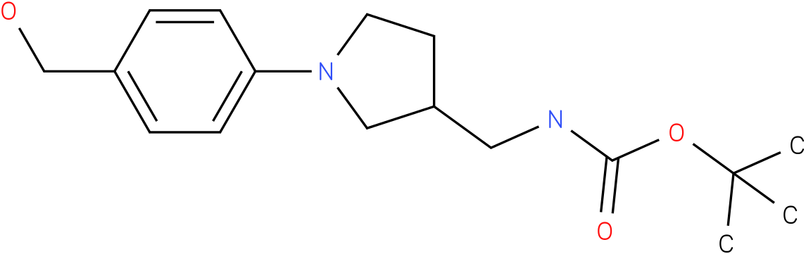[1-(4-hydroxymethyl-phenyl)-pyrrolidin-3-ylmethyl]-carbamic acid tert-butyl ester