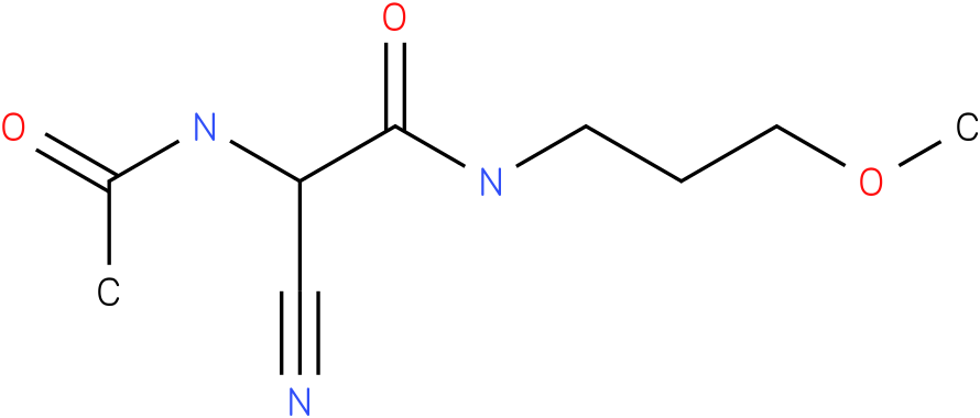 2-acetylamino-2-cyano-N-(3-methoxy-propyl)-acetamide