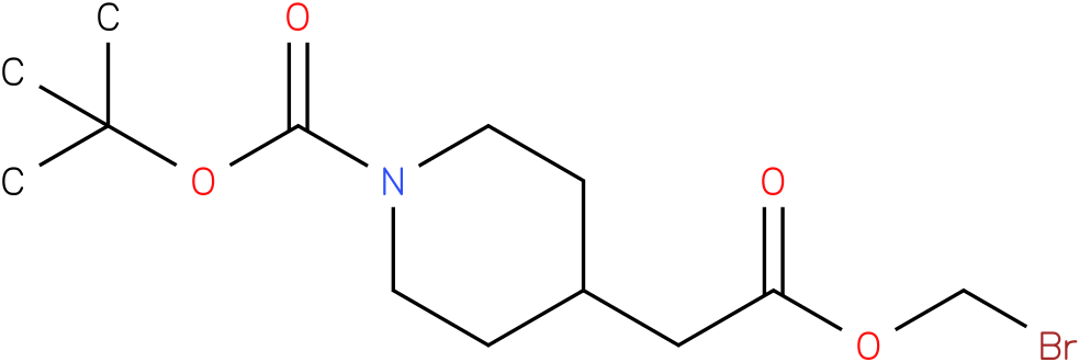 4-(bromo-methoxycarbonyl-methyl)-piperidine-1-carboxylic acid tert-butyl ester
