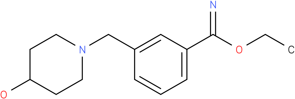 3-(4-hydroxy-piperidin-1-ylmethyl)-benzimidic acid ethyl ester