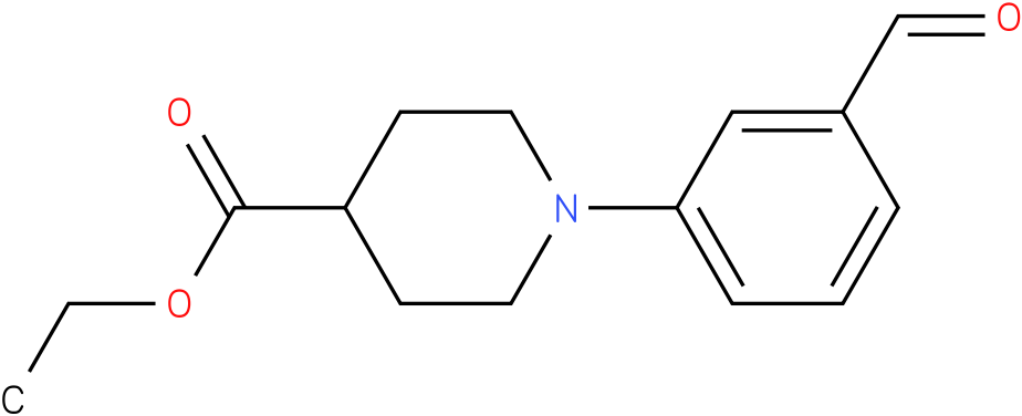 1-(3-formyl-phenyl)-piperidine-4-carboxylic acid ethyl ester