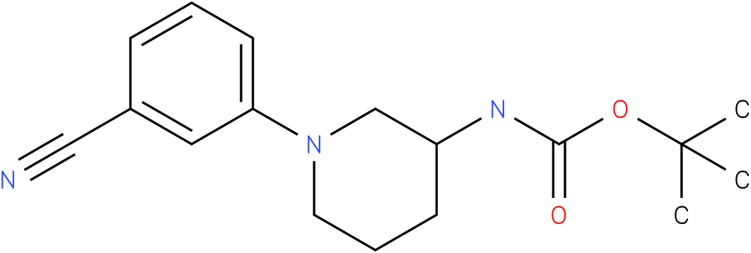 1-(3-cyano-phenyl)-piperidin-3-carbamic acid tert-butyl ester