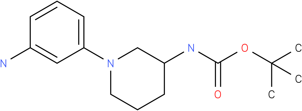 1-(3-amino-phenyl)-piperidin-3-carbamic acid tert-butyl ester