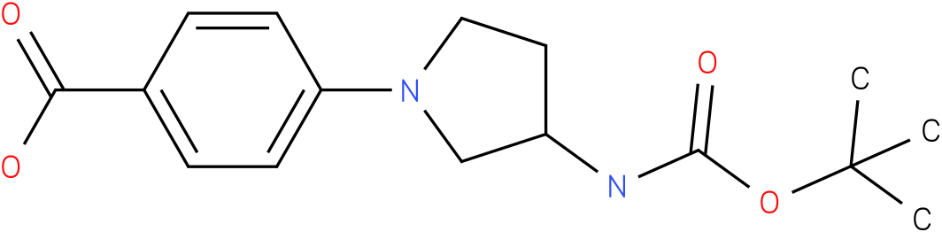 [1-(4-carboxy-phenyl)-pyrrolidin-3-yl]-carbamic acid tert-butyl ester