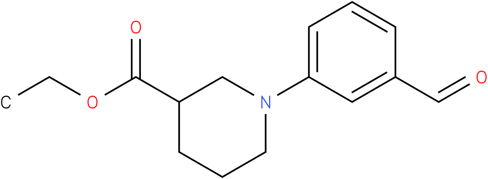 1-(3-formyl-phenyl)-piperidine-3-carboxylic acid ethyl ester