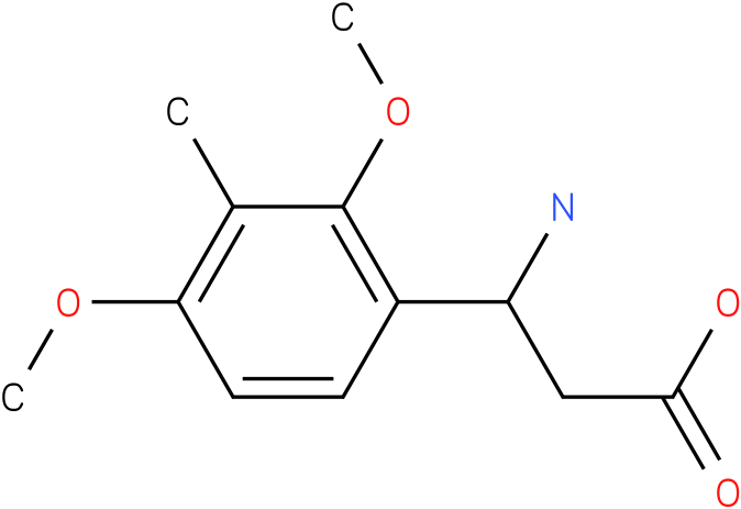 3-Amino-3-(2,4-methoxy-3-methyl-phenyl)-propionic acid
