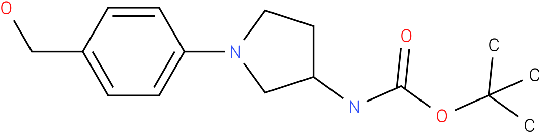 [1-(4-hydroxymethyl-phenyl)-pyrrolidin-3-yl]-carbamic acid tert-butyl ester