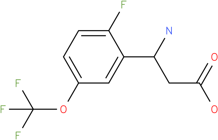 3-Amino-3-(2-fluoro-5-trifluoromethoxy-phenyl)-propionic acid