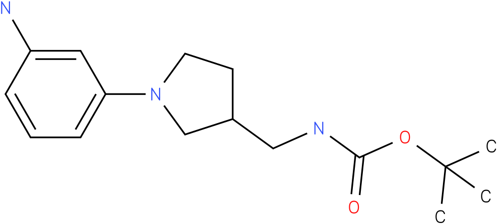 [1-(3-amino-phenyl)-pyrrolidin-3-ylmethyl]-carbamic acid tert-butyl ester