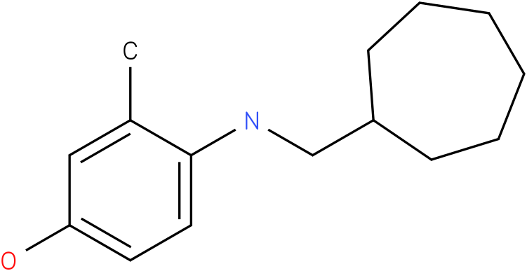 4-[(Cycloheptylmethyl)-amino]-3-methyl-phenol