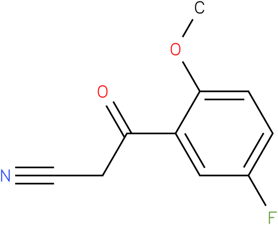 2-Cyano-1-(5-fluoro-2-methoxy-phenyl)-ethanone