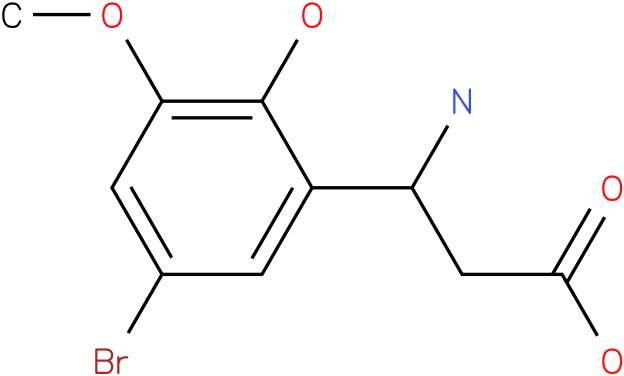 3-Amino-3-(5-bromo-3-methoxy-2-hydroxy-phenyl)-propionic acid