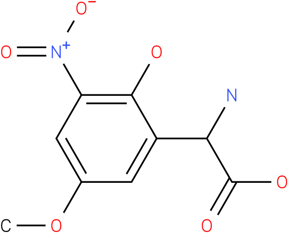 Amino-(2-hydroxy-5-methoxy-3-nitro-phenyl)-acetic acid