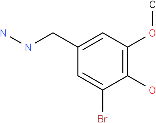 3-Bromo-4-hydroxy-5-methoxy-benzyl-hydrazine
