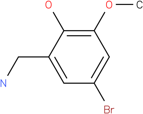 5-Bromo-2-hydroxy-3-methoxybenzylamine