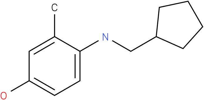 4-[(Cyclopentylmethyl)-amino]-3-methyl-phenol