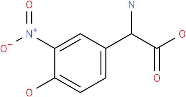 Amino-(4-hydroxy-3-nitro-phenyl)-acetic acid
