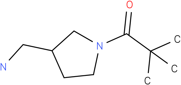 1-[3-(AMINOMETHYL)PYRROLIDIN-1-YL]-2,2-DIMETHYLPROPAN-1-ONE