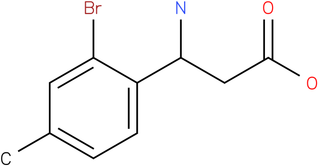 3-Amino-3-(2-bromo-4-methyl-phenyl)-propionic acid
