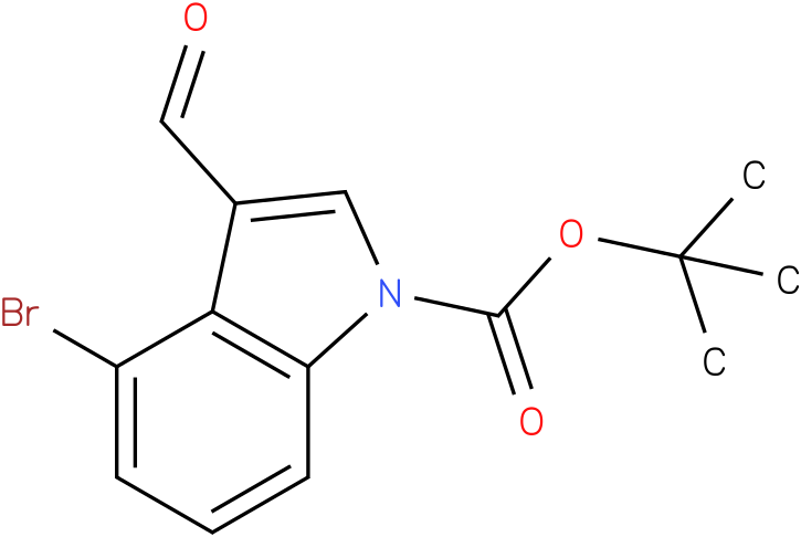 tert-butyl 4-bromo-3-formyl-1H-indole-1-carboxylate