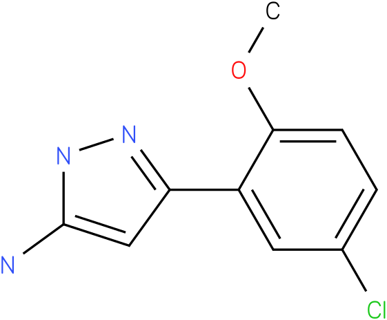 5-(5-Chloro-2-methoxy-phenyl)-2H-pyrazol-3-ylamine