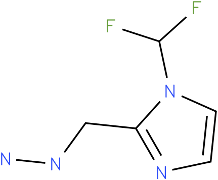1-((1-(difluoromethyl)-1H-imidazol-2-yl)methyl)hydrazine
