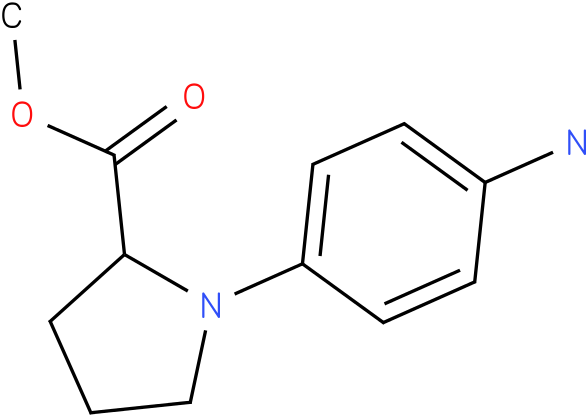 1-(4-amino-phenyl)-pyrrolidin-2-carboxylic acid methyl ester