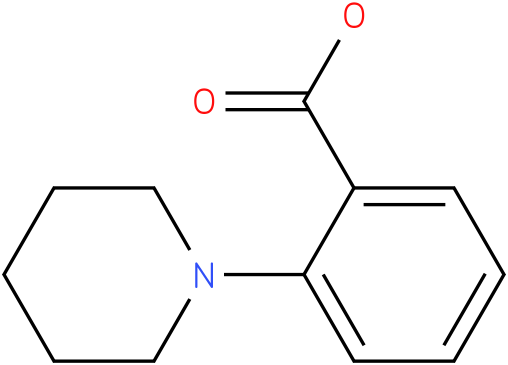 2-Piperidinobenzoic acid