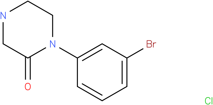1-(3-bromo-phenyl)-piperazin-2-one