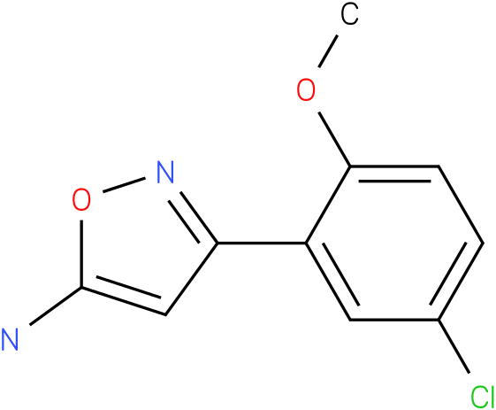 3-(5-Chloro-2-methoxy-phenyl)-isoxazol-5-ylamine