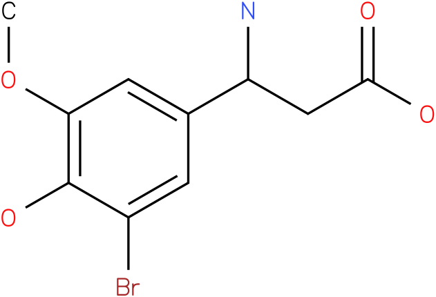 3-Amino-3-(3-bromo-4-hydroxy-5-methoxy-phenyl)-propionic acid