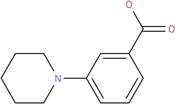 3-Piperidinobenzoic acid