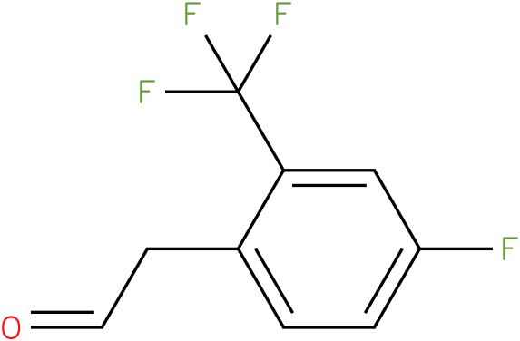 2-(4-fluoro-2-(trifluoromethyl)phenyl)acetaldehyde