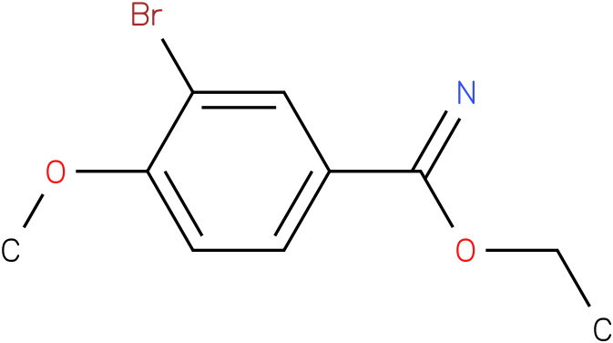 3-Bromo-4-methoxy-benzimidic acid ethyl ester