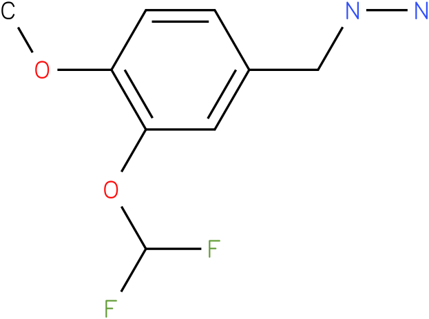 1-[(3-(difluoromethoxy)-4-methoxyphenyl]methyl)hydrazine