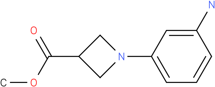 1-(3-Amino-phenyl)-azetidine-3-carboxylic acid methyl ester