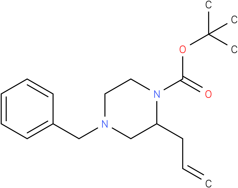 tert-butyl 2-allyl-4-benzylpiperazine-1-carboxylate