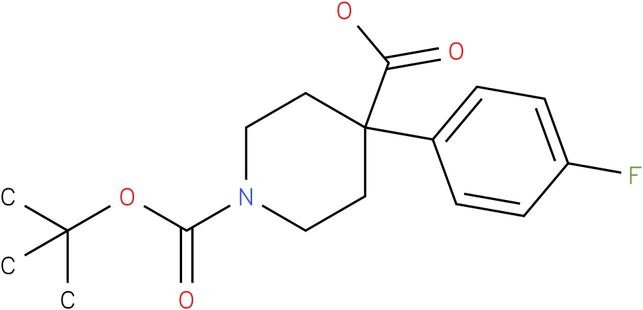 1-(tert-butoxycarbonyl)-4-(4-fluorophenyl)piperidine-4-carboxylic acid