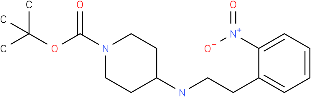 tert-butyl 4-{[2-(2-nitrophenyl)ethyl]amino}piperidine-1-carboxylate