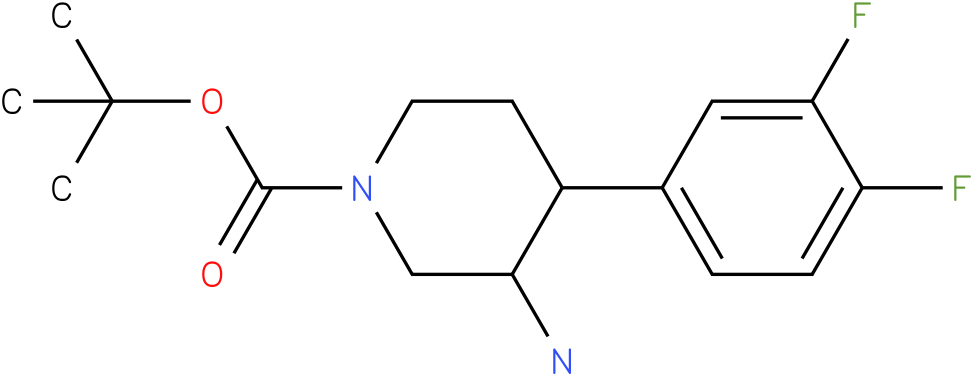 TERT-BUTYL 3-AMINO-4-(3,4-DIFLUOROPHENYL)PIPERIDINE-1-CARBOXYLATE