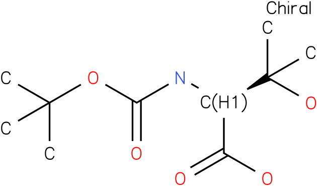 N-Boc-(S)-2-amino-3-hydroxy-3-methylbutanoic acid