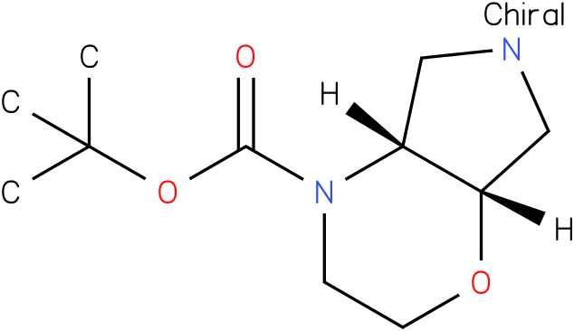 Pyrrolo[3,4-b]-1,4-oxazine-4(4aH)-carboxylic acid,hexahydro-, 1,1-dimethylethyl ester, (4aR,7aS)-rel-