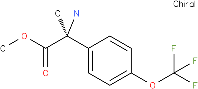 methyl (2S)-2-amino-2-[4-(trifluoromethoxy)phenyl]propanoate